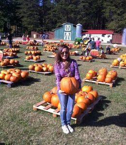 fazendas de abóboras no Halloween americano